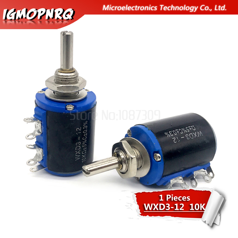 1pcs WXD3-12 1W 10K Ohm 5 Ring Multi-circle Precision Wire-wound Potentiometer  WXD3-12-1W