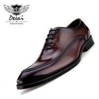 2019 роскошные мужские туфли из натуральной кожи; деловые туфли в британском стиле с острым носком; кожаные туфли ручной работы для деловых му