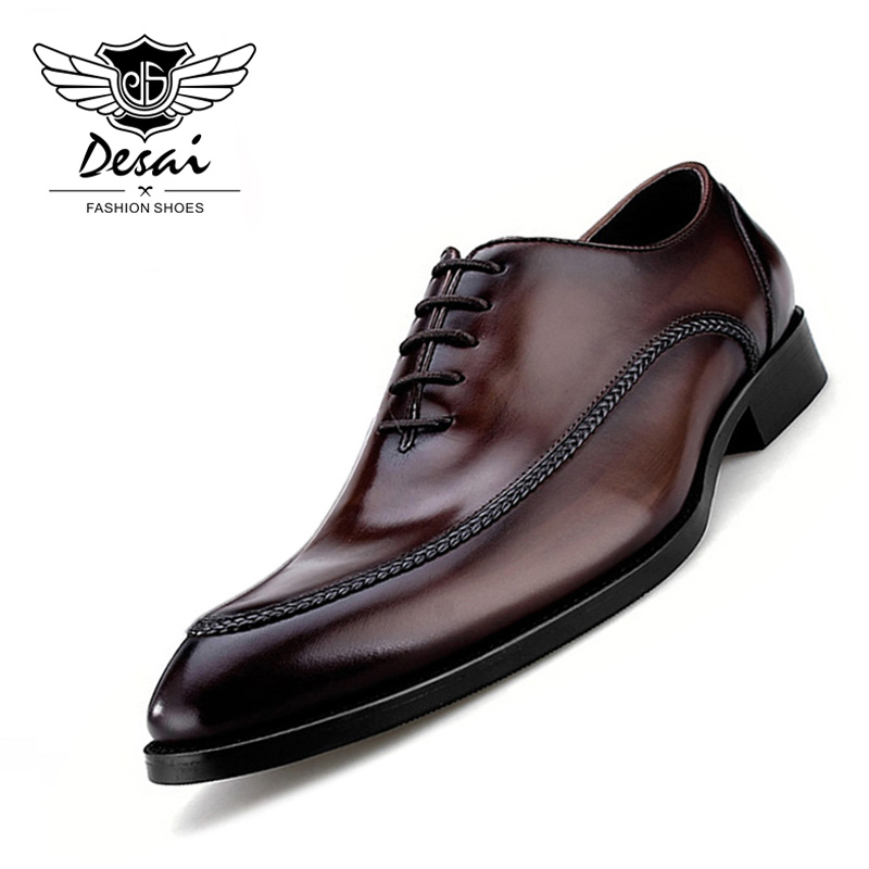 2019 Luxury Genuine Leather Mens Shoes Business British Style Pointed Teo Shoes Handmade Leather Shoes for Business Men2019 Luxury Genuine Leather Mens Shoes Business British Style Pointed Teo Shoes Handmade Leather Shoes for Business Men