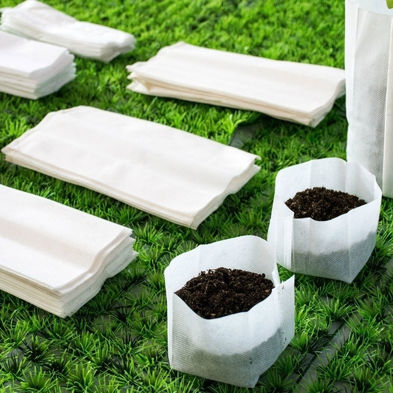 200 PCs Non-woven seedling bag plant planting fabric pot