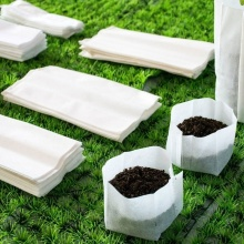 200 PCs Non-woven seedling bag plant planting bag fabric seedling pot