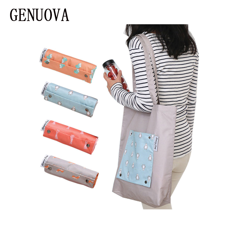 High-Quality Reusable Handbags Hand-painted Bag Korean High-capacity Grocery Grab Shopping Bags Foldable Storage Bag Women Tote
