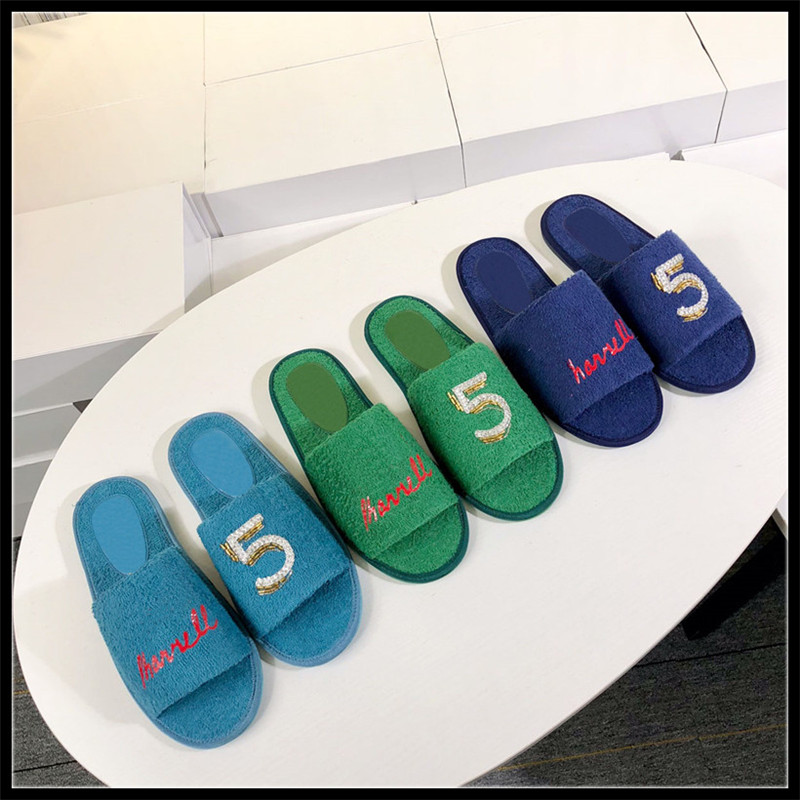 Woman Shoes Cotton Fabric Sale Unicornio Pantufas 2019 New Slippers Slide Sandal Mule Desginer Shoes Brand Desgin Mules Slides