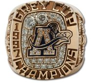 Drop Shipping 1997 Toronto Argonauts The 85th Grey Cup Championship Ring With Wooden Display Box Solid