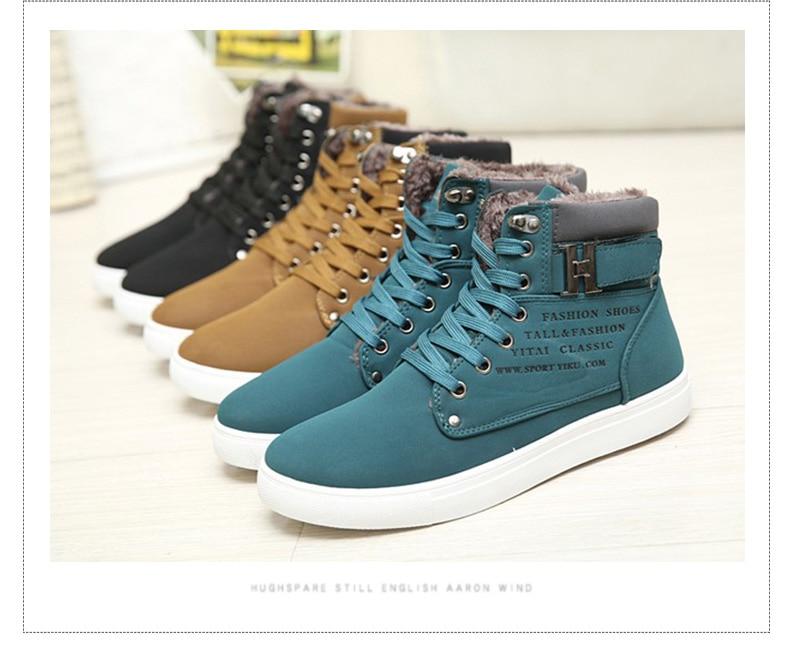HTB1j4cJAeuSBuNjy1Xcq6AYjFXaf DEKABR Hot Men Shoes Fashion Warm Fur Winter Men Boots Autumn Leather Footwear For Man New High Top Canvas Casual Shoes Men
