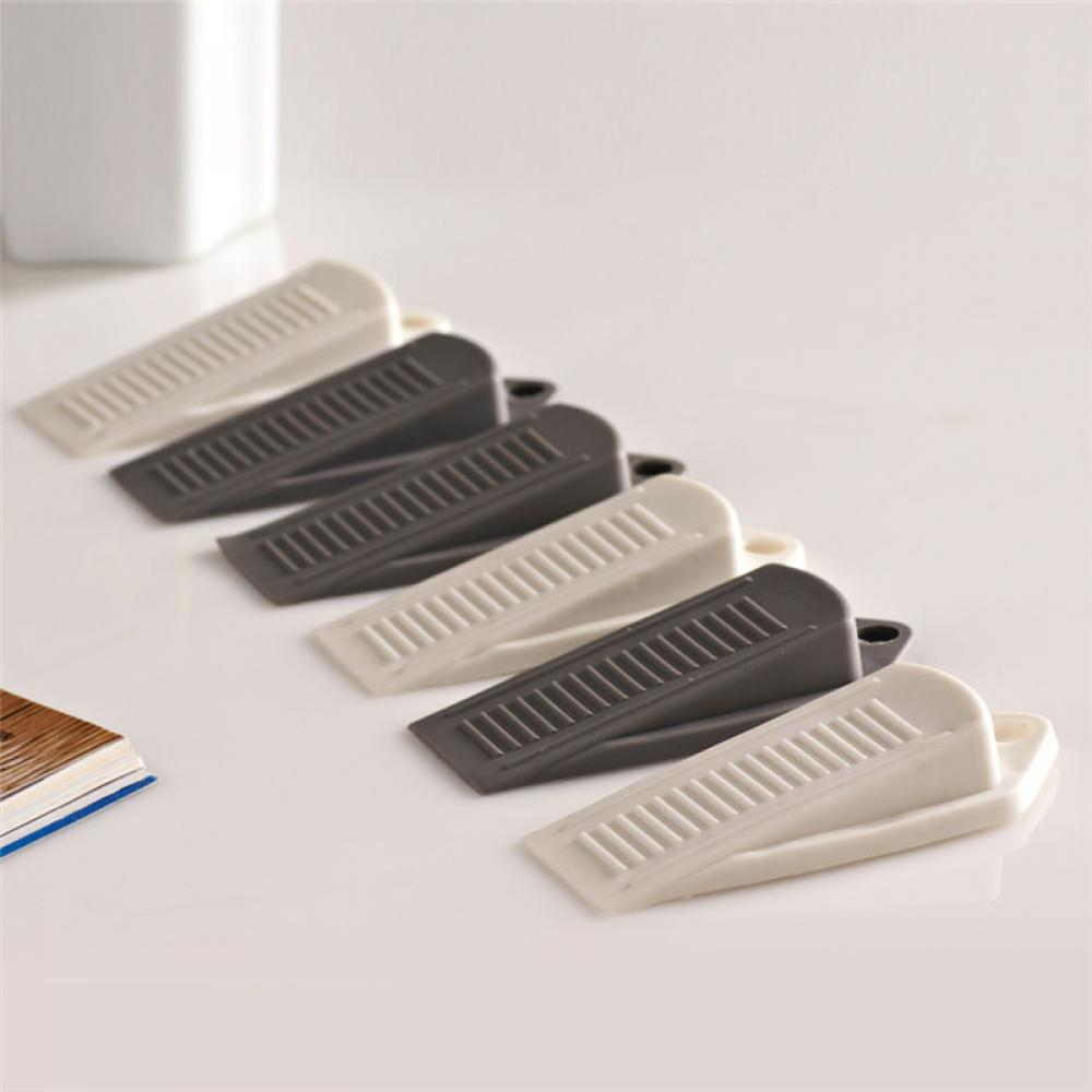 4PCS Soft Silicone Non-Scratch Rubber Door Stopper Wedges Prevent Finger Injuries for Children Safety Door Stops