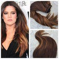 Ombre Clip in Human Hair Extensions 7Pcs/100g Human Hair Clip in Extensions Balayage Straight Virgin Remy Hair Clip ins BY226