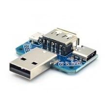 4 в 1 USB к Micro к type-C 4P 2,54 мм разъем адаптера пластина папа к гнезду USB разъем