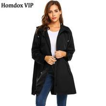 Front-Zip Lightweight Outdoor Hooded Women Raincoat Waterproof Rain Jackets