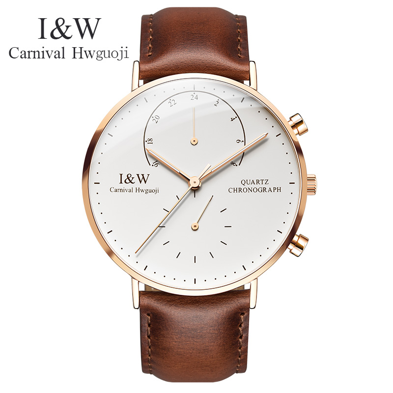 IW 8787-5G men's Quartz-Watch fabric Classic Canterbury Stainless Steel Watch With Multi-Color Striped Band