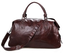 Vintage Crazy Horse Leather Unisex Simple Design Large Capacity Travel Bag Casual And Durable Duffle Tote 7071LC