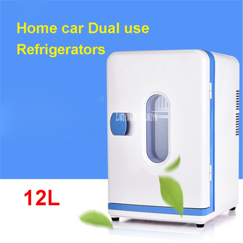 New Semiconductor 12L Car Fridge Freezer 12 V Car Portable Mini Car Fridge Cooler & Warmer For Auto Use 220V Home Car Dual-use