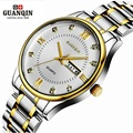 Original GUANQIN Watch Men Quartz Watch Waterproof Shockproof Watch Men 2016 Luminous Luxury Wrist Watch Male Clock Wristwatches