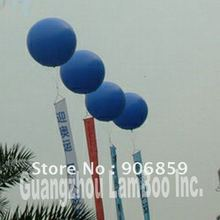 Большой 2,5 м Диаметр синий надувной гелий шар/Вы можете добавить ваши баннеры/разные цвета