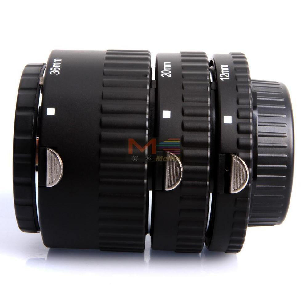Meike Auto Focus Tube Extension Macro Set 12 20 36mm Adaptateur Anneau Pour Nikon D3100 D3200 D5000 Tous DSLR AF AF-S DX Camera Lens - 5