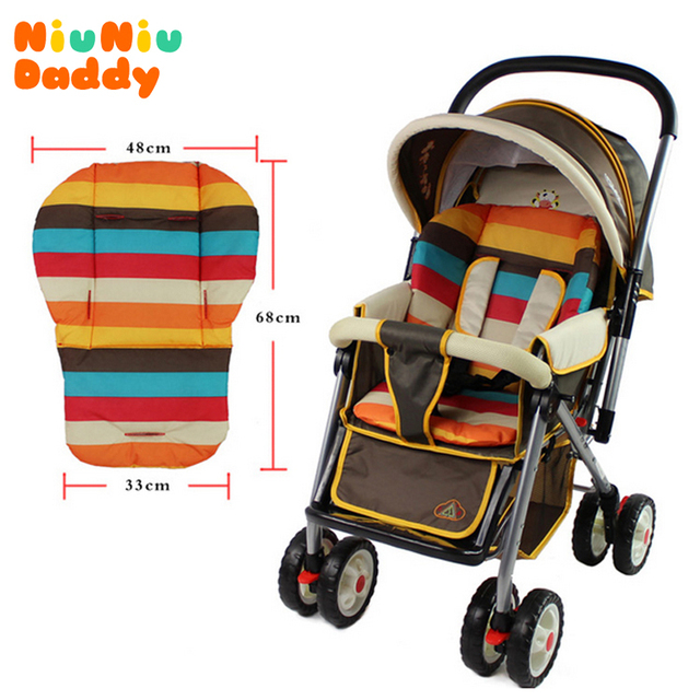 Baby stroller cushion striped pad pram baby car seat cushion general cotton mat 0-36 months 2014 new arrival free shipping