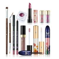 HUAMIANLI 10pcs Lots Professional High Quality Women Makeup Sets Lipstick Eyeliner Eyeshadow Brush Full Brand Makeup
