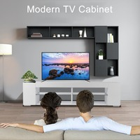 Modern TV Cabinet Unit Stable Storage Shelf TV Stand Living Room Home Entertainment Decoration Furniture