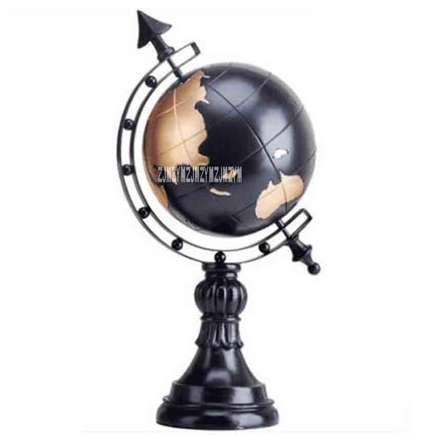 KD002 Style européen créatif maison résine Cube Globe Figurine décoration bureau décorations TV armoire bureau décoration processus