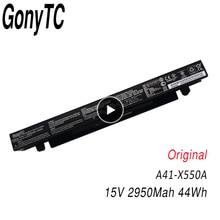 GONYTC 15V 44Wh 2950mAh الأصلي A41 X550a بطارية ل Asus A41 X550 X550C A450 A450C A450L A450LB ليثيوم أيون بطارية كمبيوتر محمول