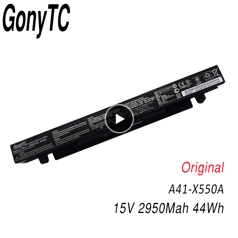 Image 1 - GONYTC 15V 44Wh 2950mAh Original A41 X550a Battery For Asus A41 X550 X550C A450 A450C A450L A450LB Li ion Laptop Battery-in Laptop Batteries from Computer & Office