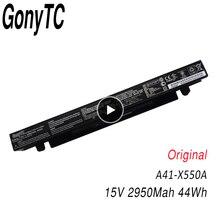 GONYTC 15V 44Wh Original 2950mAh Bateria Para Asus A41 X550 X550C A450 A450C A450L A41 X550a A450LB Li ion Bateria Do Laptop