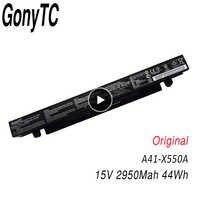 GONYTC 15V 44Wh Original 2950mAh Bateria Para Asus A41-X550 X550C A450 A450C A450L A41-X550a A450LB Li-ion Bateria Do Laptop