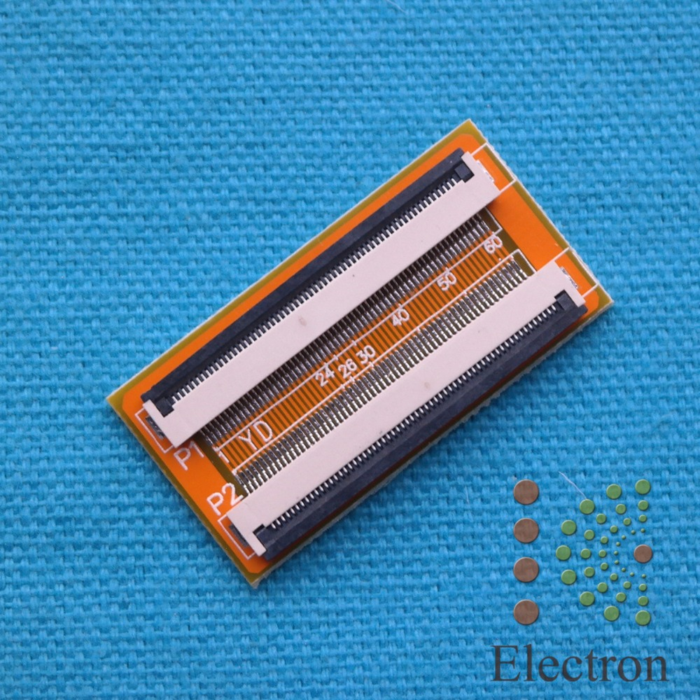 60 Pin to 60 Pin 0.5mm FFC Cable Extension Connector Adapter 5pcs/lot