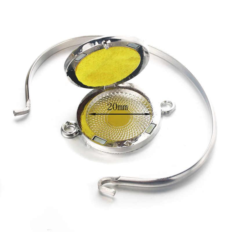 Colibrí patrón Aroma caja de pulsera de acero inoxidable de difusor del aceite esencial de Perfume aromaterapia propagación pulsera regalo