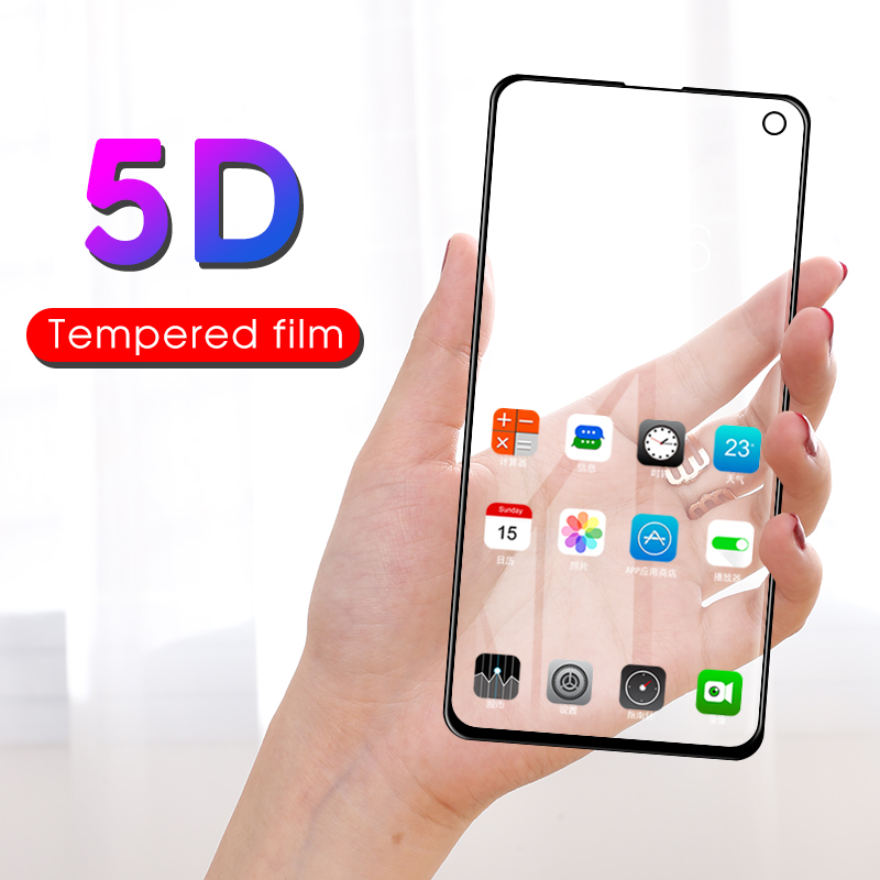 5d Curved Tempered Glass For Samsung Galaxy S10e S10 E Full Cover Screen Protector For Samsung S 10 E Protective Film