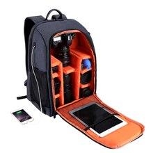 Топ предложения PULUZ Многофункциональный водонепроницаемый царапинам цифровой DSLR камера фото видео плечо SLR Камера сумка w/дождевик