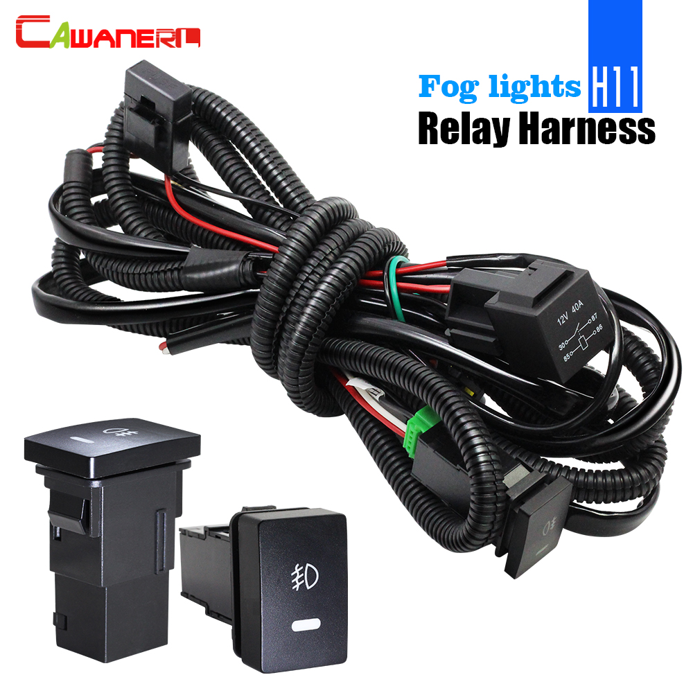 hight resolution of cawanerl fog light wiring harness h11 socket wire switch with led indicator at relay for toyota corolla rav4 lexus rx gs es is in wire from automobiles
