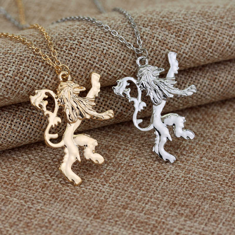 MOCHUN Fashion Game of Thrones Lannisters Pendant Necklace Lion Chain Necklaces for Men Women Jewelry Accessories Necklaces-30