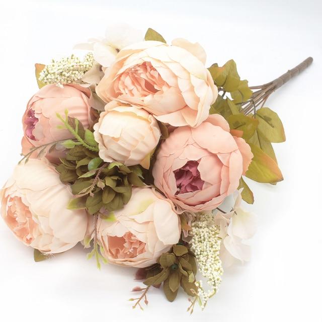 5cbc05b52b US $7.47 47% OFF|Aliexpress.com : Buy European style 8 heads Elegant  Artificial Peony Silk Flowers Floral Home Wedding Party Decor Decoration  Flores ...