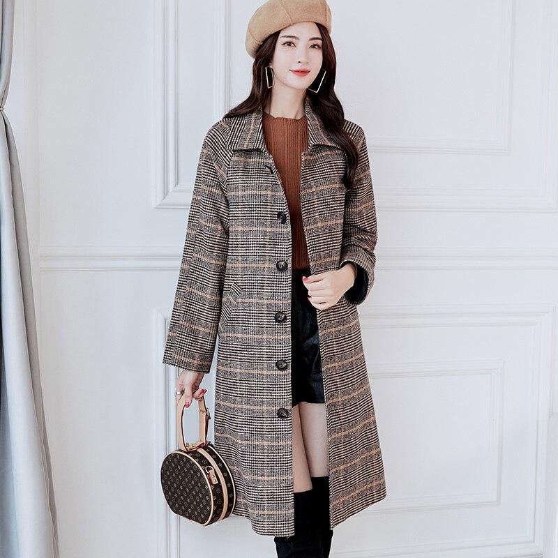 9b8d2bf8a44 Women Coat Autumn Coats Jackets Warm Cotton Padded Wool Blends High Quality  Long Manteau Femme Casaco Feminino Plus size XXL-in Wool   Blends from  Women s ...