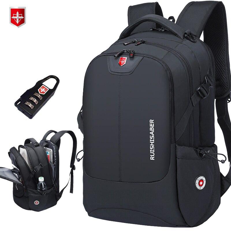 Brand Swiss 17 inch Laptop Backpack Men USB Charging Travel Backpack School Bag Nylon Waterproof Backpacks