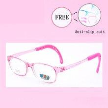 db45e617d7 Gafas transparentes de silicona para niños y niñas, gafas flexibles,  monturas para gafas para