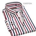 CAIZIYIJIA High Qualtiy Striped Mens Dress Shirt 2017 New Designer Long Sleeve Camisa Masculina Casual Shirt Brand Clothing