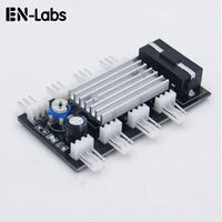 Computer PC Cooler System 8 Port 3 pin Fan Speed Controller w/ adhesive pad,Automatic Temperature control for 5v 12V 3pin Fan