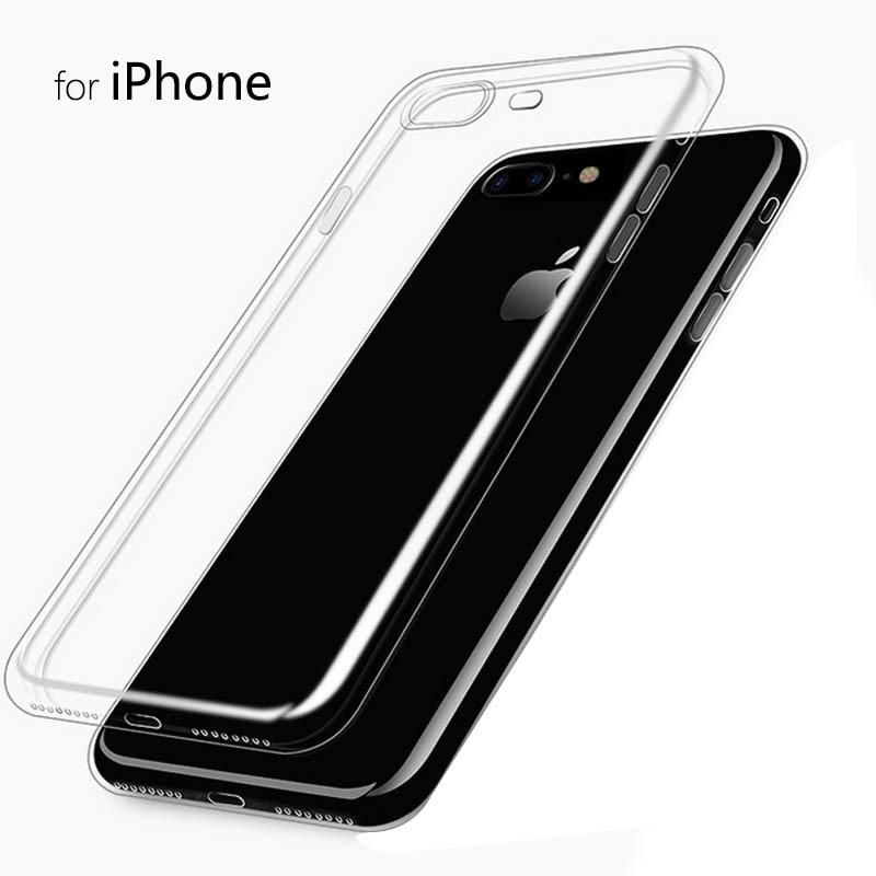 Slim Crystal Clear tas ponsel kasus Untuk iPhone 7 Kasus TISKE - Aksesori dan suku cadang ponsel - Foto 5