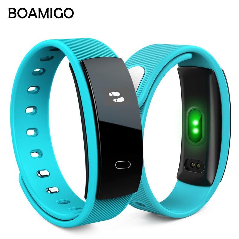 Smart Uhren BOAMIGO Unisex Armband Armband Bluetooth Herz Rate Nachricht Erinnerung Schlaf Überwachung Für IOS Android telefon