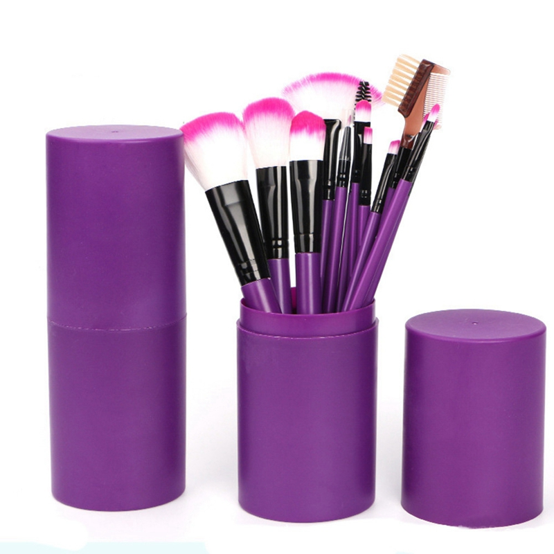 12Pcs Makeup Brush Sets Professional Cosmetics Brushes Set Kit + Pouch Case Woman Make Up Tools Pincel Maquiagem 23 pieces professional versatile portable makeup brush set cosmetics brushes kit make up maquillaje with grass green pouch bag