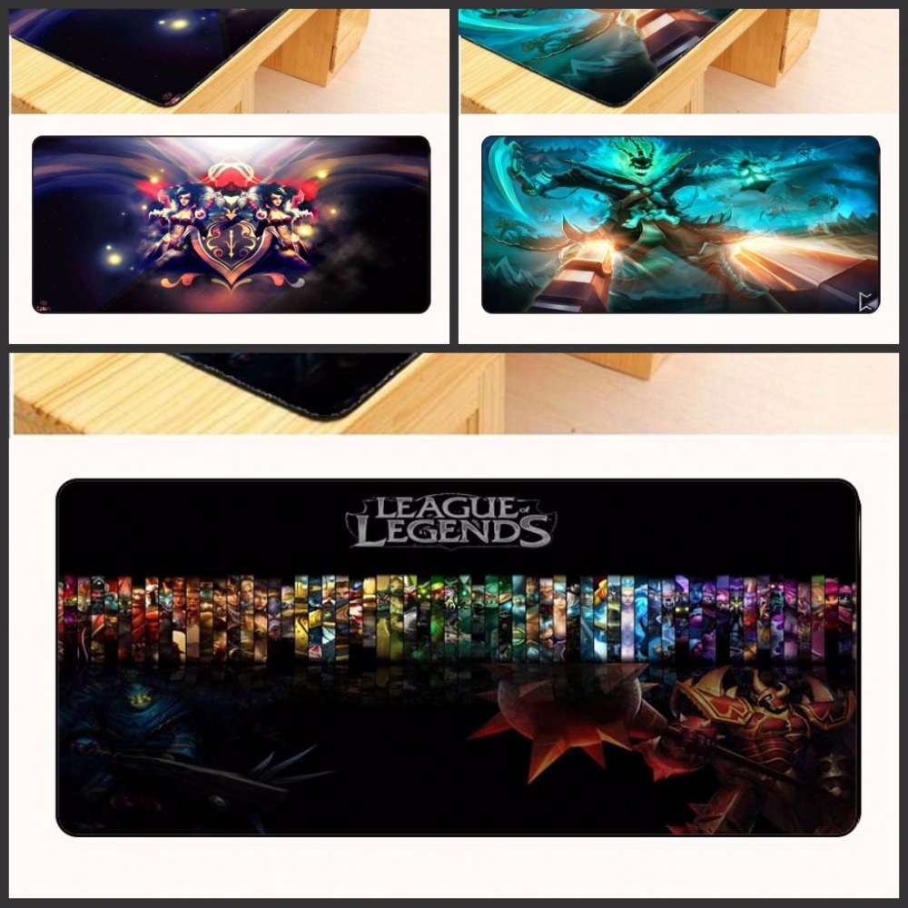 Yuzuoan Free Shipping Non-slip Table Laptop mousepad large Locking Edge League of Legends gaming Gift mouse pad 400*900*3mm CM