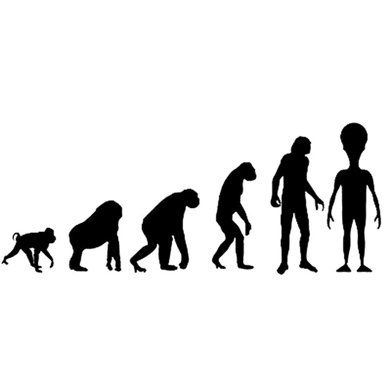 20cm*7.9cm Interesting Alien Evolution Vinyl Decal Car