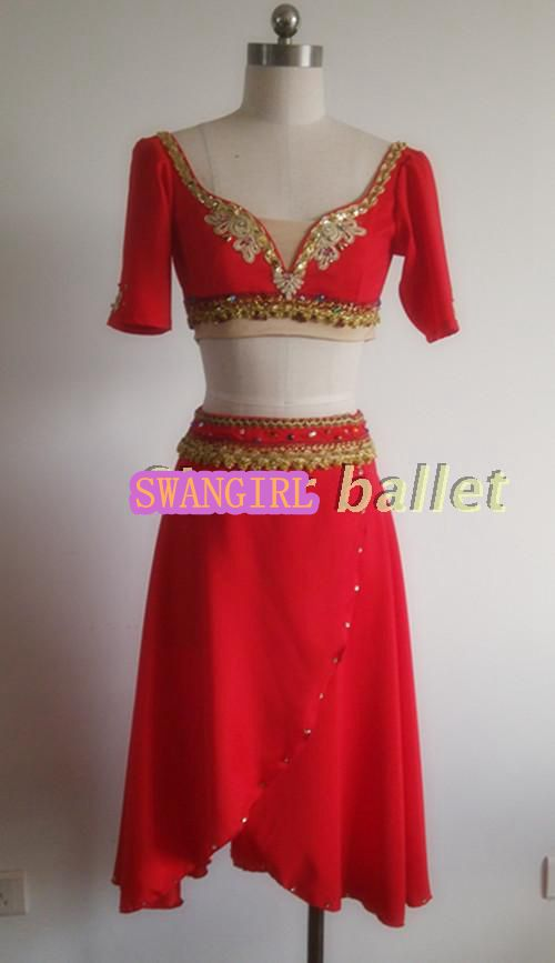 don Quijote ballet dress romantic red lyrical <font><b>dance</b></font> costumes adult professional ballet cosutmeSB0003 image