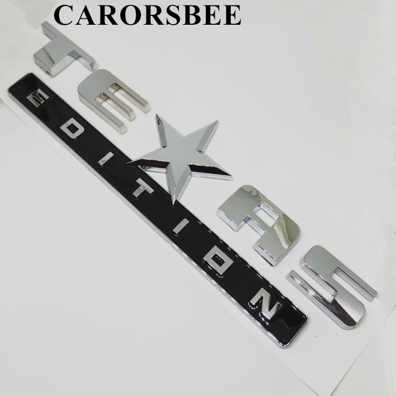 CARORSBEE Store CARORSBEE ABS Chrome TEAS EDITION Badge Emblem Car sticker Texas five-star car-styling motorcycle automobiles accessories Decal