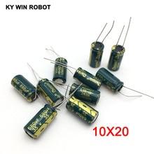 Capacitor eletrolítico de alumínio 680 uf, capacitor eletrolítico de alumínio uf 35 v 10*20mm speel129, radial