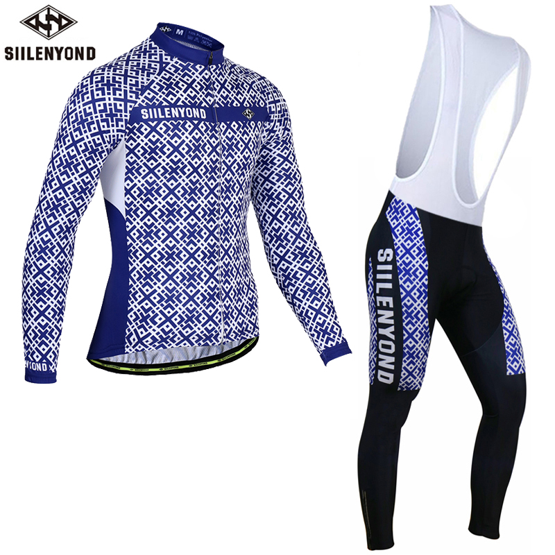 Siilenyond Keep Warm Cycling Jersey Set Long Sleeve Ropa Ciclismo Invierno Bicycle Clothing Winter Thermal Fleece Bike Clothes malciklo winter fleece thermal cycling jersey set long sleeve bicycle bike clothing pantalones ropa ciclismo invierno wears