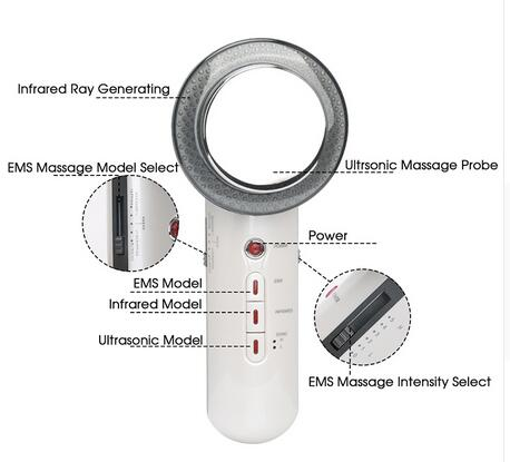 Image 4 - Ultrasound Cavitation EMS Body Slimming Massager Weight Loss Lipo Massager Anti Cellulite Fat Burner Infrared Ultrasonic Therapy-in Face Skin Care Tools from Beauty & Health