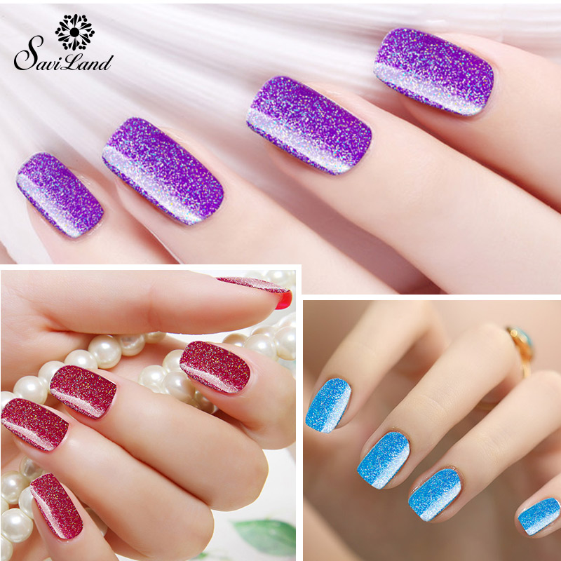 Saviland Long Lasting Neon Colors Nail Gel Polish UV Dark Purple ...